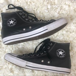 Converse high tops leather w/ wool lining